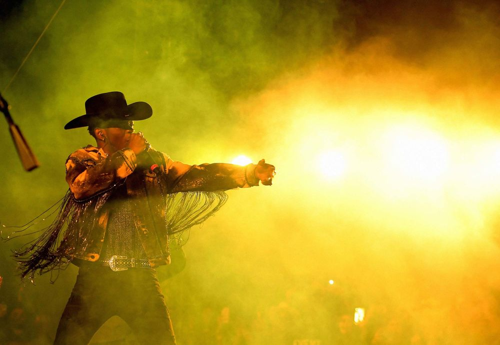 Lil Nas X performs onstage during the 2019 Stagecoach Festival at Empire Polo Field in Indio, Calif., on April 28, 2019.