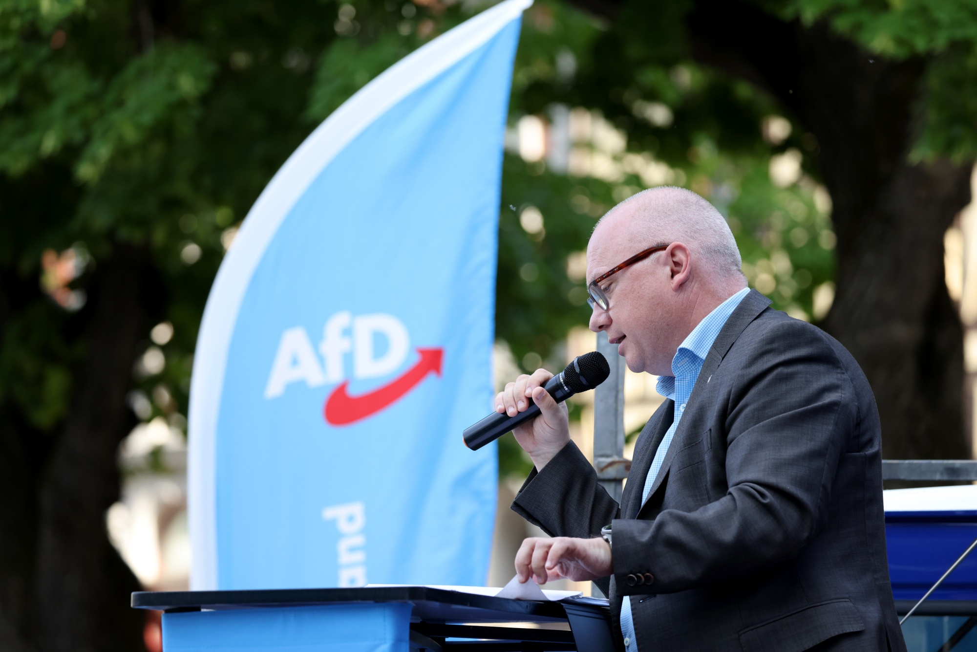 Alternative for Germany Party Campaigns Ahead of Saxony Anhalt State Election