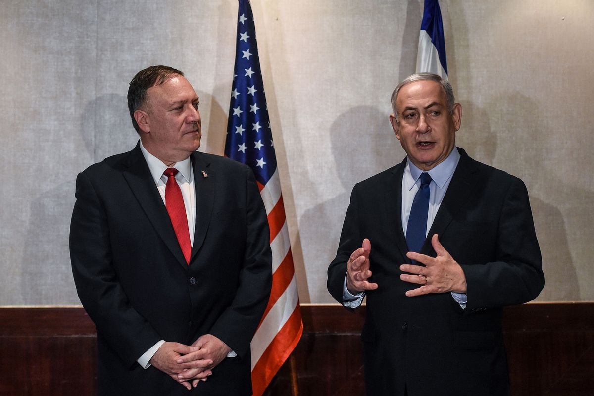 Netanyahu Joins Pompeo in Lisbon to Decry Iranian Aggression