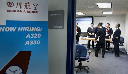 Chinese airlines have been offering lucrative packages to lure foreign pilots into their ranks for years. In February 2012, Sichuan Airlines held a pilot recruitment fair in Miami.