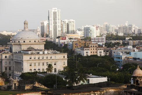 Buildings Stand in San Juan