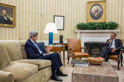 U.S. Secretary of State John Kerry & President Barack Obama