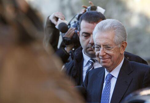 Former EU Competition Commissioner Mario Monti