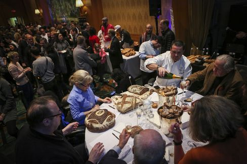 While the seven judges tasted baguettes and artisan breads (with Veuve Clicquot as a palate cleanser, naturally), the francophone crowd buzzed on a carb high.
