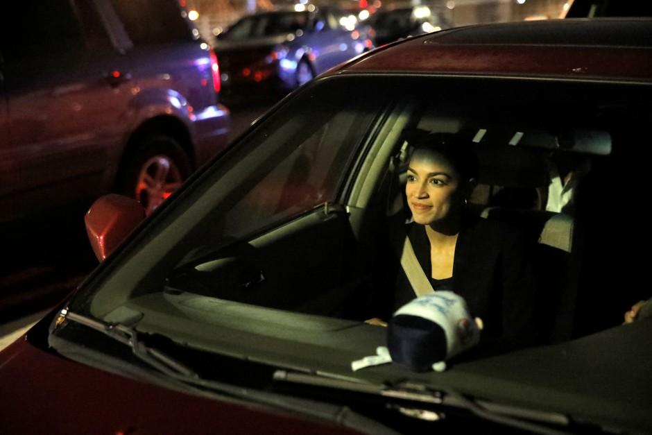 Photo of Alexandria Ocasio-Cortez  - car
