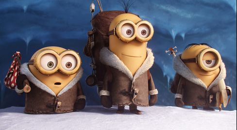 Bob, Kevin and Stuart are on a mission in 'Minions.'