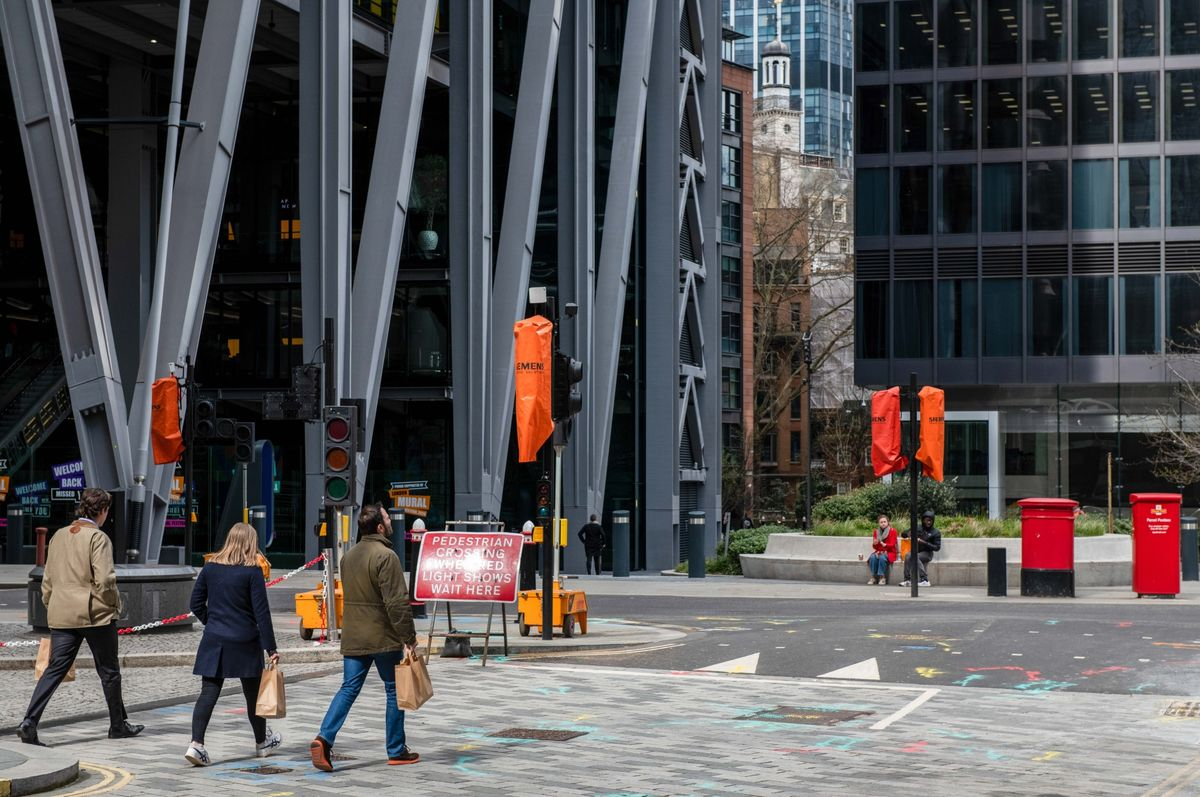 Goldman Bankers Lead City of London's Uneven Return to Office