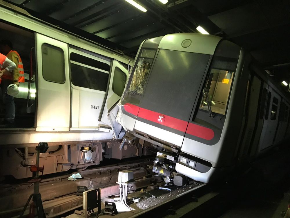 Hong Kong Subway Trains Collide During Test of Signaling System