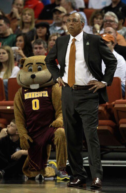 University of Minnesota Coach Tubby Smith