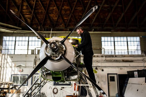 A Zero-Emission Seaplane Prepares for Takeoff