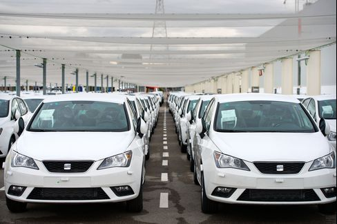 Seat Automobiles Sit at the Seat SA Headquarters in Martorell