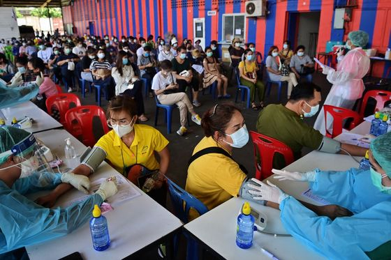Thai Virus Epicenter Aims to Vaccinate Majority of Residents