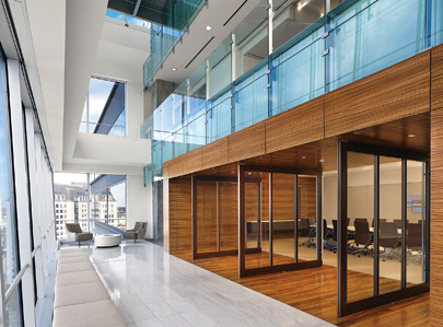 The main boardroom, off to the right, where BCG holds meetings for clients and partners