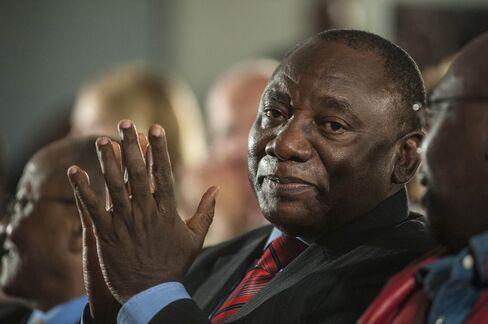 South African Deputy President Cyril Ramaphosa