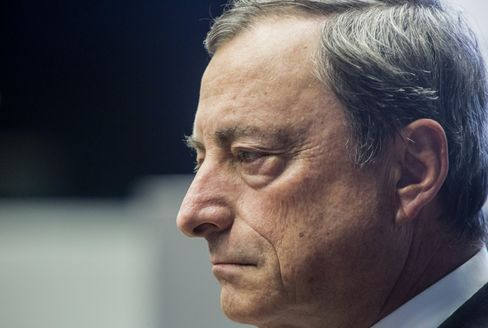 European Central Bank President Mario Draghi Speaks At An Artwork Inauguration In The ECB Headquarters