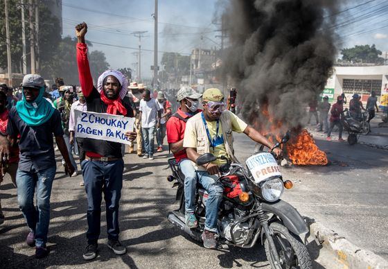 Haiti Protesters Say Moise's Term Ends Next Month; He Disagrees