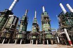 Refining towers are seen at the Zawiya oil refinery near Tripoli, Libya.