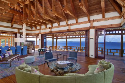 View from the living room to the Caribbean.