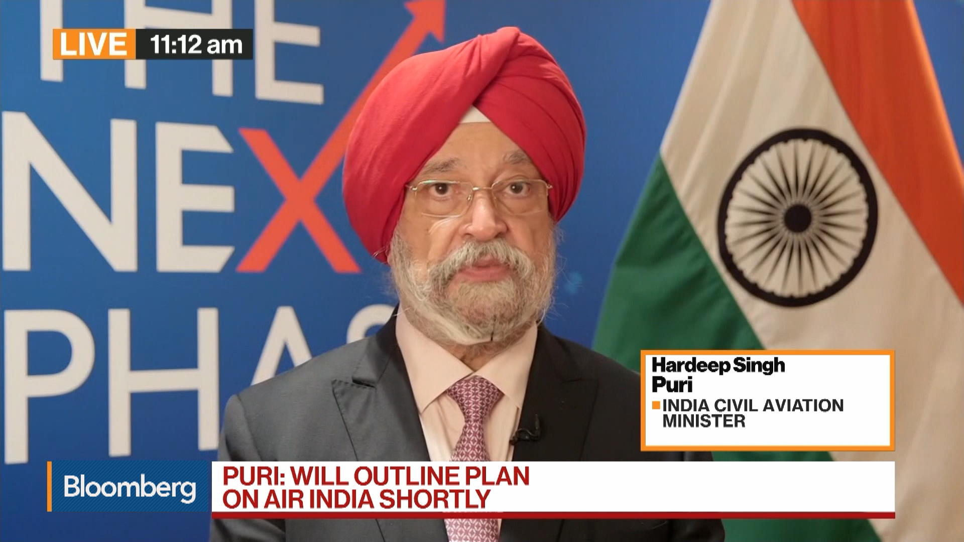 Hardeep Singh Puri, Indian Aviation Minister, on Air India, Jet Airways, Industry Outlook
