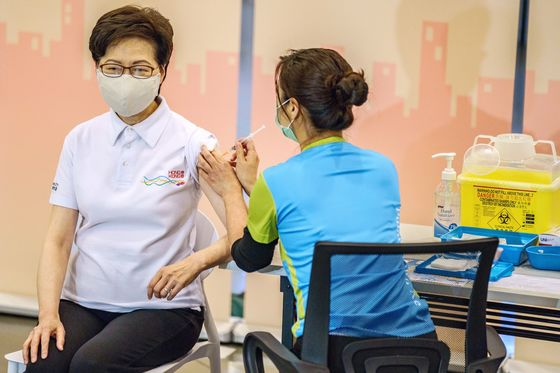 Hong Kong's Lam Gets China Vaccine as City Prepares Rollout