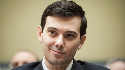 Martin Shkreli smiles during a House Committee on Oversight and Government Reform hearing on prescription drug prices in Washington, D.C., on Feb. 4.
