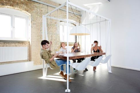 Office Upgrade: Swing-Set Conference Table