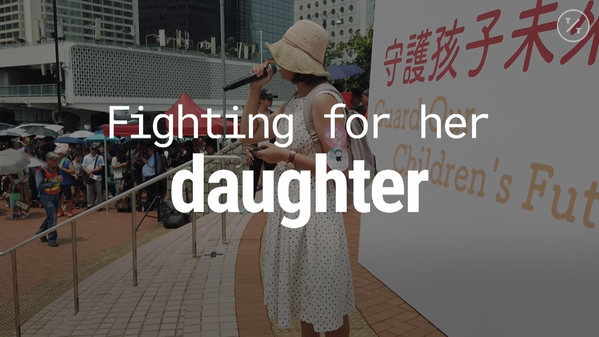 Why This Hong Kong Mom Protests