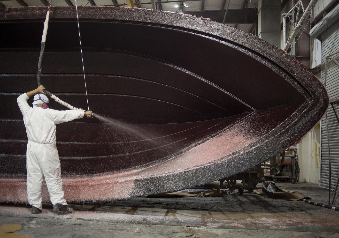 Operations Inside The Everglades Boats Manufacturing Facility