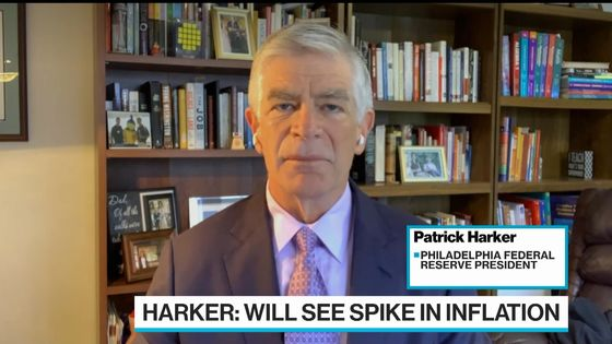 Fed's Harker Sees Above-Target Inflation, Optimistic Bond Market