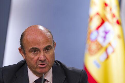 Spanish Economy Minister Luis de Guindos