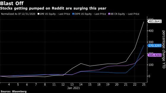 Reddit's Rocket-Ship Stock Picks Like BlackBerry Soar Again