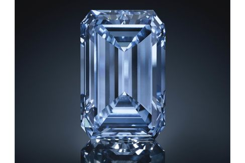 The Oppenheimer Blue diamond, which carries an estimate of $38 million to $45 million.