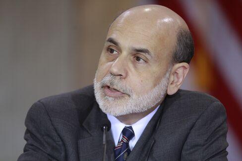 Dollar Rises, Bernanke Says Return to Recession Is Unlikely