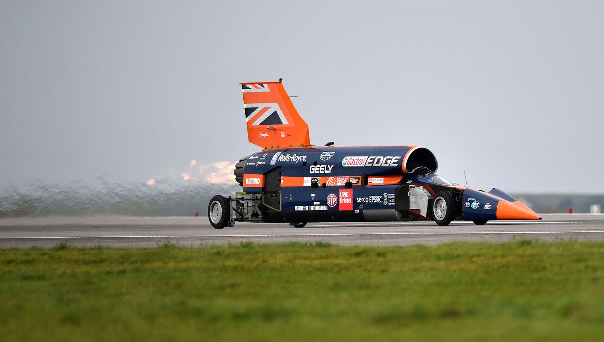 Rocket Car Puts Land Speed Record in Sight, and Maybe 1,000 Mph