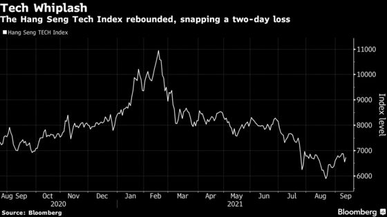 China Tech Shares Rebound on Easing Investor Worry Over Gaming