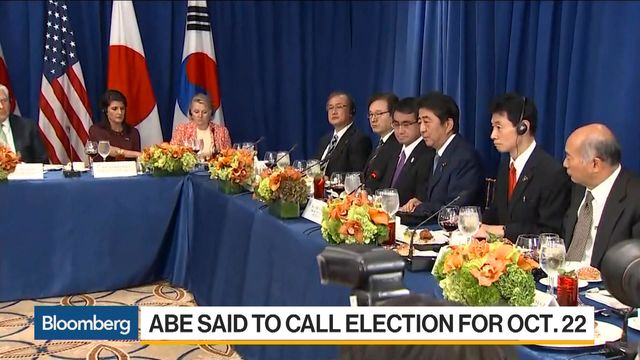 Japan's Abe poised to call snap election