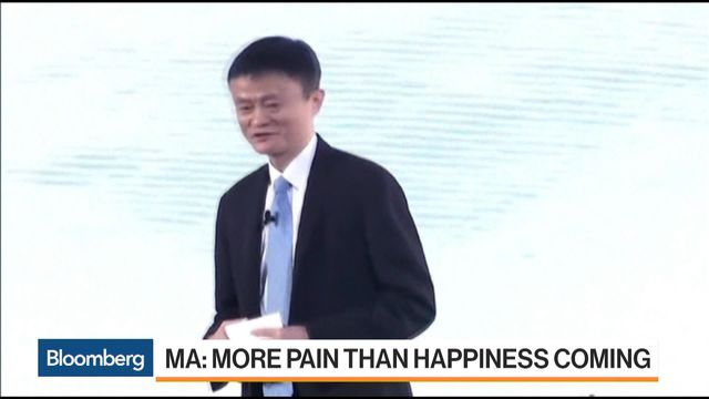 Jack Ma Sees Decades of Pain as Internet Upends Old Economy