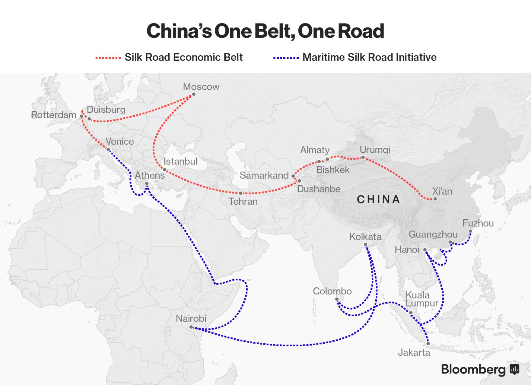 中国の140兆円シルクロード構想、マーシャル・プランより大規模-分析