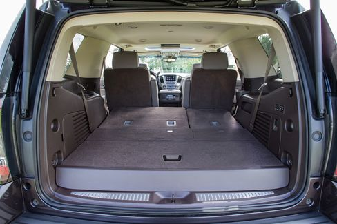 The seats in the Denali fold flat for crazy cargo space.