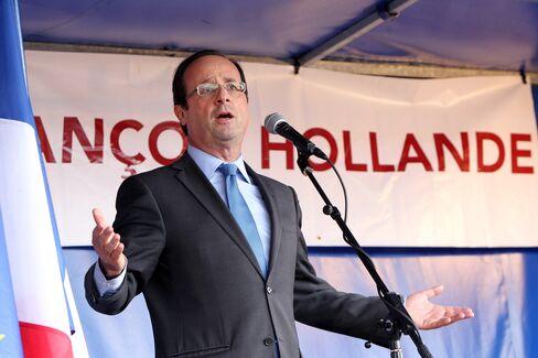 Socialist Candidate Francois Hollande