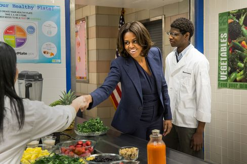 Michelle Obama Visits High School In NYC To Highlight Children's Health