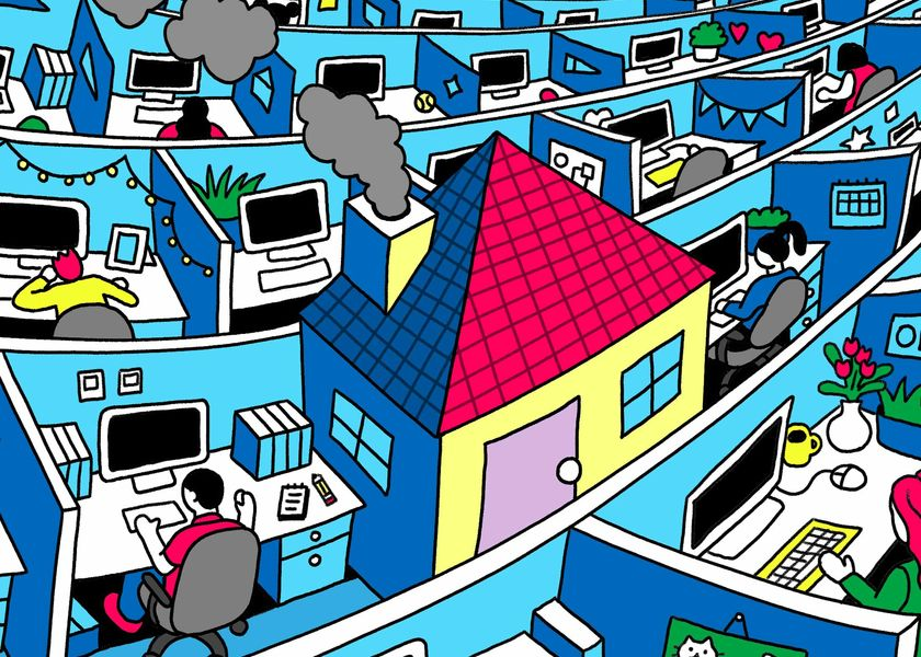 relates to Companies Face the Big Work Question: Return to Office ... or Not?