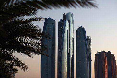 High rise buildings in Abu Dhabi.