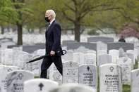 President Biden Visits Section 60 Of Arlington National Cemetery