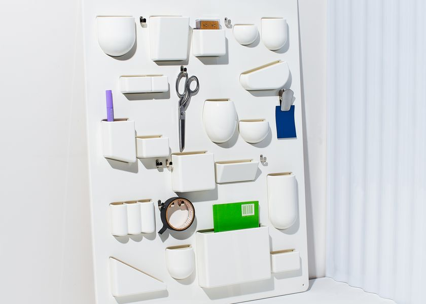 relates to A Midcentury Wall Organizer Puts Clutter on Creative Display