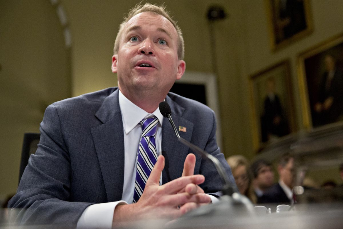 Trump Sets Up Clash Over CFPB Leadership by Installing Mulvaney