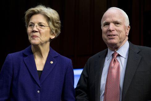 U.S. Senators Elizabeth Warren & John McCain