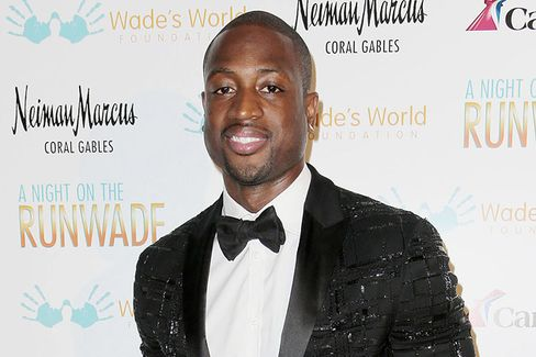 Sportsman Gone Sartorial: Dwyane Wade Tries the Necktie Game