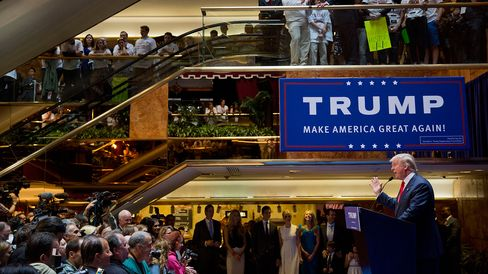 Donald Trump announces his candidacy for president on June 16, 2015, in New York City.