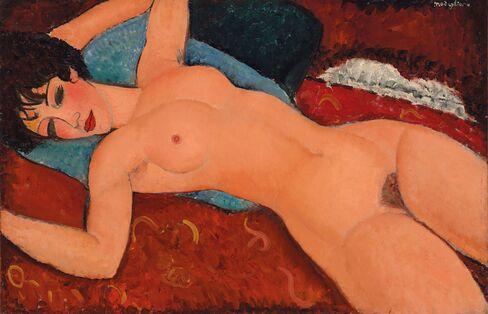 Amedeo Modigliani,Nu Couche, 1917-1918
